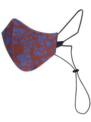 Una Mascarilla Reutilizable y Lavable con Padron Flores Azules de Maskk