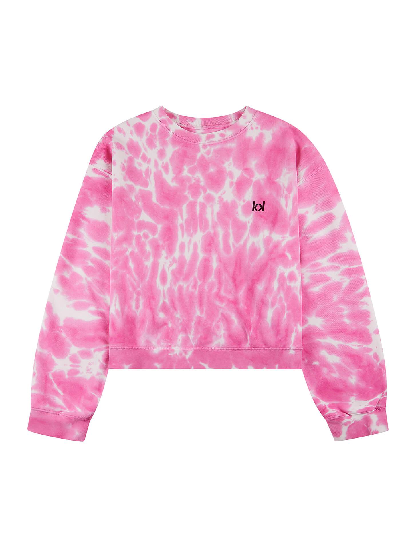 Un jersey con efecto tie dye rosa