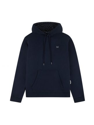 One navy hoodie with palms designed